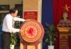 Đồng chí Phó chủ tịch thường trực UBND tỉnh dự lễ khai giảngvới thầy và trò Trường THCS Nghĩa Minh, huyện Nghĩa Hưng.