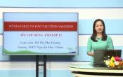 Dạy học trên truyền hình: Ôn tập kiến thức Anh Văn 12 - TOPIC: THR ENVIRONMENT ( 09/04/2020 )