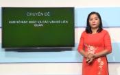 Dạy học trên truyền hình: Ôn tập kiến thức Toán 9 - Hàm số bậc nhất và các vấn đề liên quan ( 07/03/2020 )