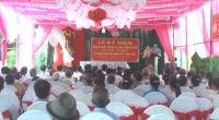 Đồng chí Chủ tịch Ủy ban MTTQ tỉnh đến dự Ngày hội Ðại đoàn kết với cán bộ và nhân dân xóm 8 – xã Xuân Hòa – huyện Xuân Trường.