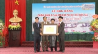 Lễ đón Bằng chứng nhận Lễ hội Chùa Keo - Hành Thiện là Di sản văn hóa phi vật thể Quốc gia