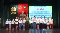 Lễ tuyên dương gia đình Công an Nam Định tiêu biểu năm 2018.