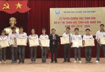 Lễ tuyên dương học sinh giỏi dự kỳ thi chọn học sinh giỏi quốc gia năm học 2019- 2020.