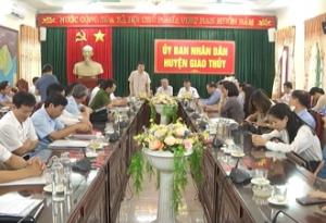 Đoàn Giám sát của HĐND tỉnh và Ủy ban MTTQ tỉnh kiểm tra, giám sát công tác chuẩn bị bầu cử đại biểu Quốc hội khóa XV và đại biểu HĐND các cấp nhiệm kỳ 2021-2026 tại huyện Giao Thủy.